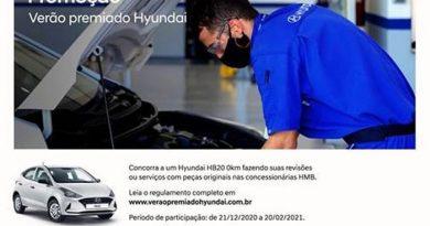 """Promoção """"Verão Premiado Hyundai"""" vai sortear   HB20 zero-quilômetro"""